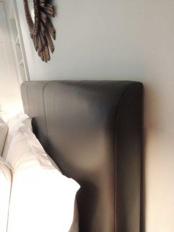 Brown Leather Headboard