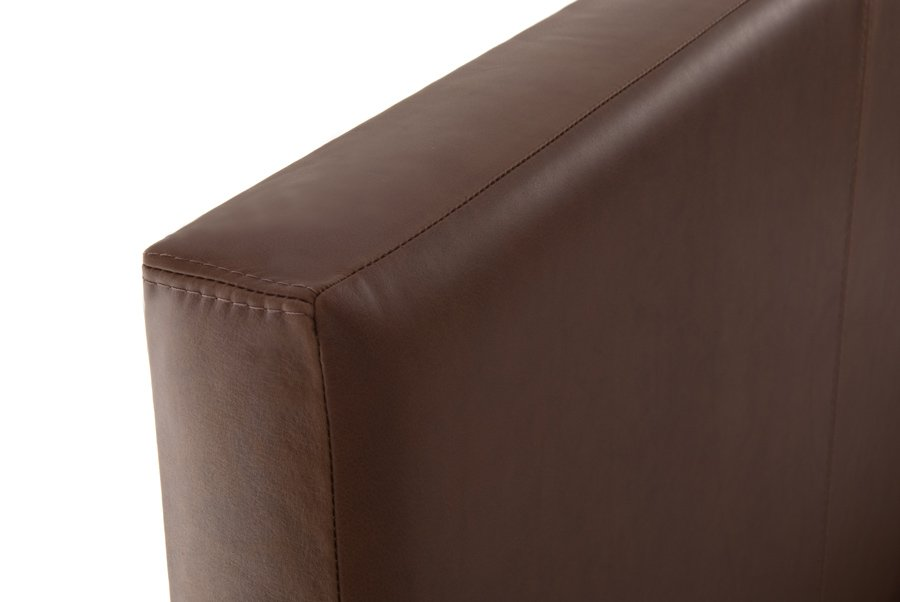 Brown Classic Real Genuine Leather Headboard