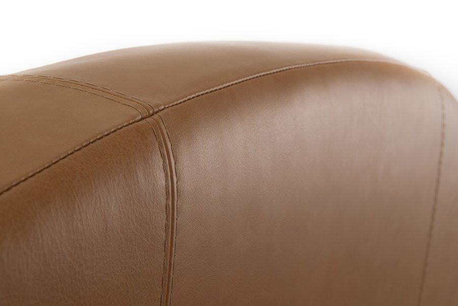 Parchment Curvy Classic Real Genuine Leather Headboard
