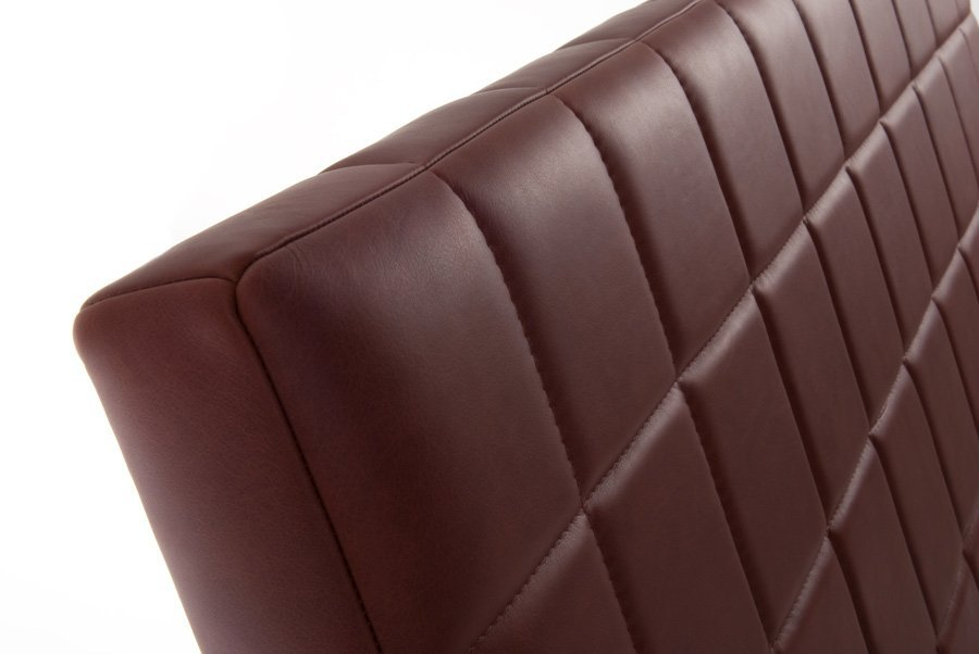 Rust Red Quilted Real Genuine Leather Headboard