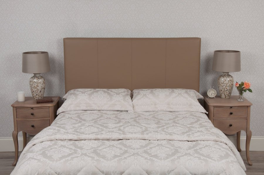 Beige Classic Real Genuine Leather Headboard