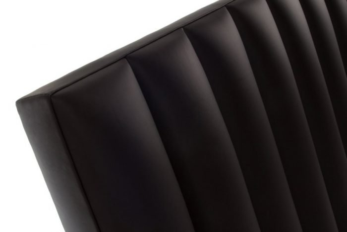 Brown Flutes Real Genuine Leather Headboard