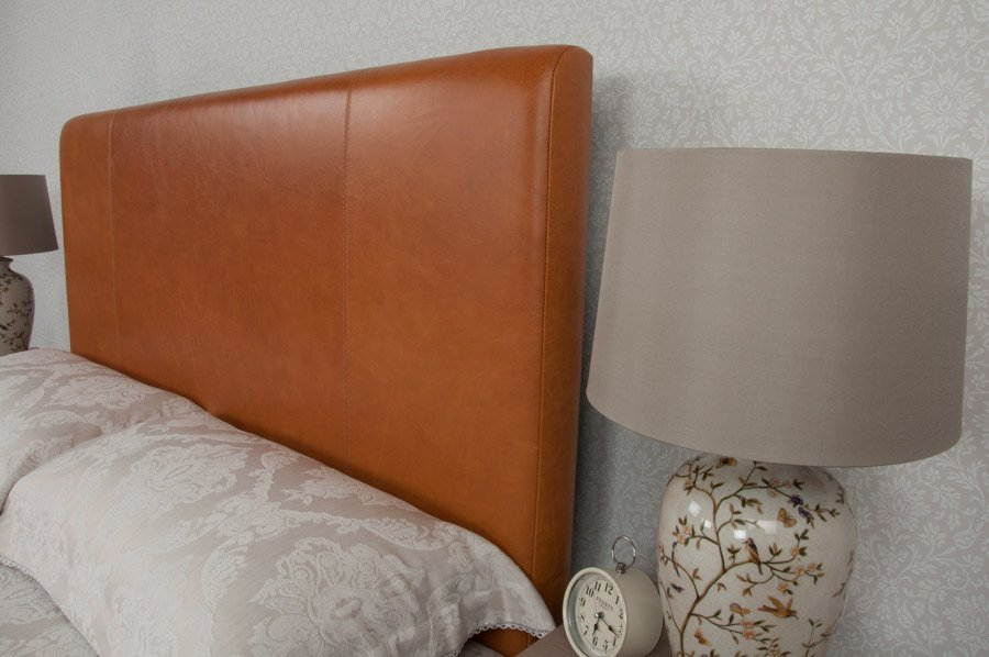 Tan Classic 2 Real Genuine Leather Headboard